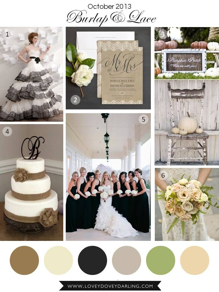 October Wedding Inspiration Board | Lovey Dovey Darling
