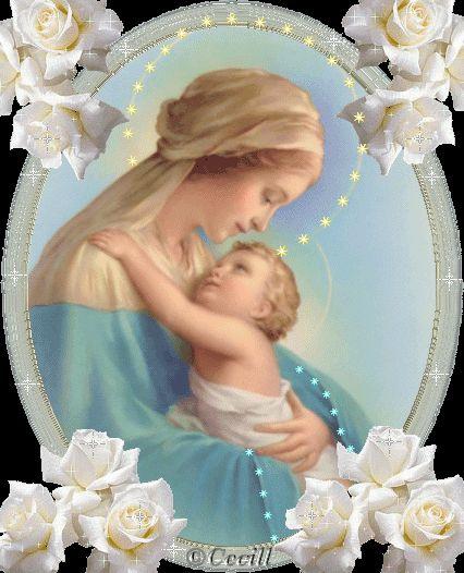 BLOG CATÓLICO NAVIDEÑO: IMÁGENES DE LA VIRGEN MARÍA Y EL NIÑO JESÚS