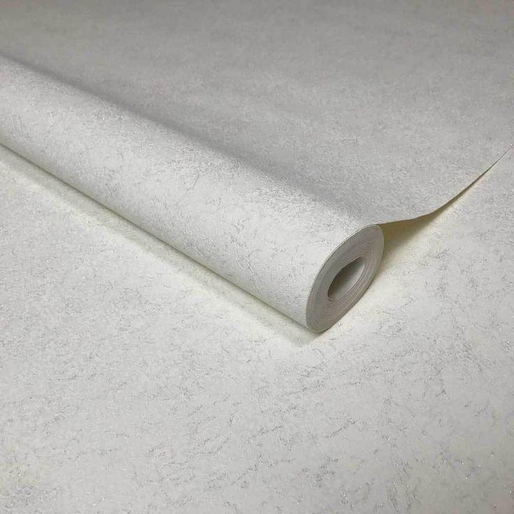 8517-06 White Silver Sparkle - Quadruple roll Wallpaper