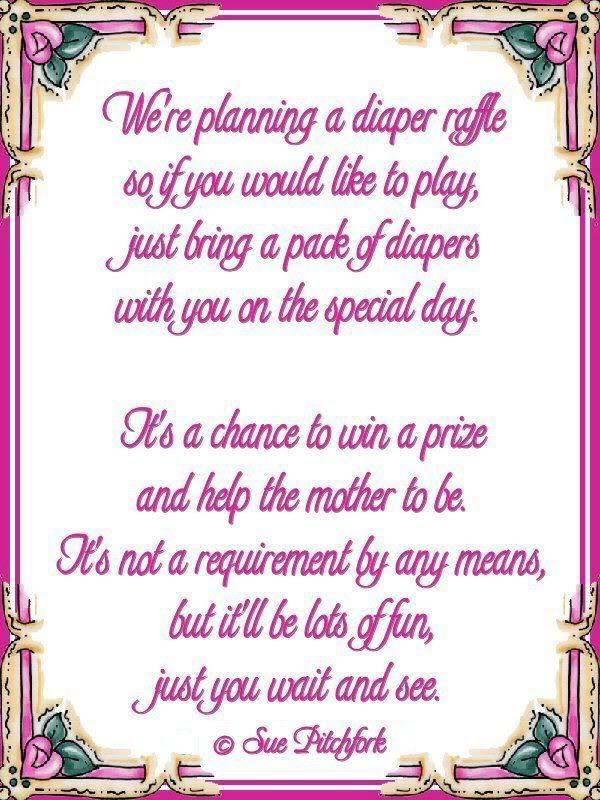Love this diaper wishing well poem | Poem: diaper raffle baby shower invitation (w/printab...
