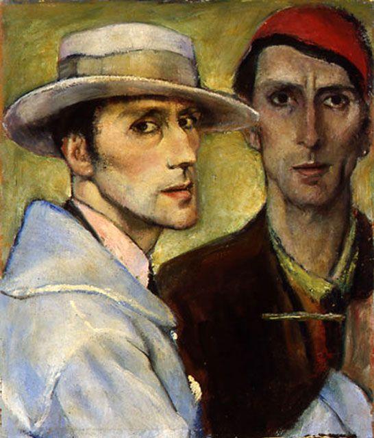 1929.01.01 Giovanni Costetti, Doppio autoritratto #giovannicostetti