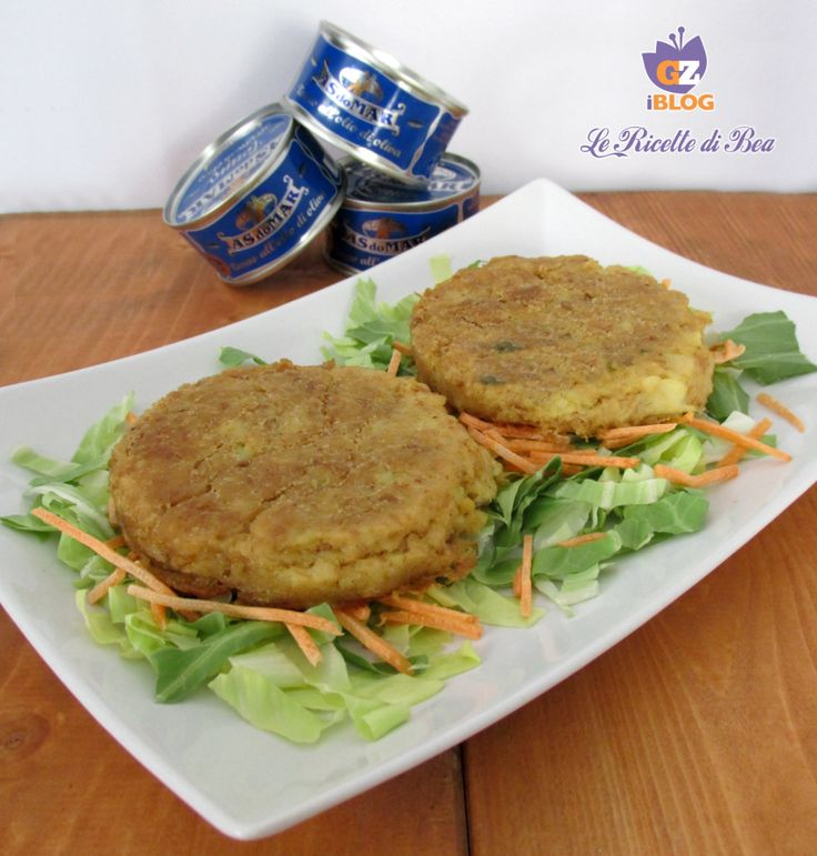 Hamburger di tonno con patate