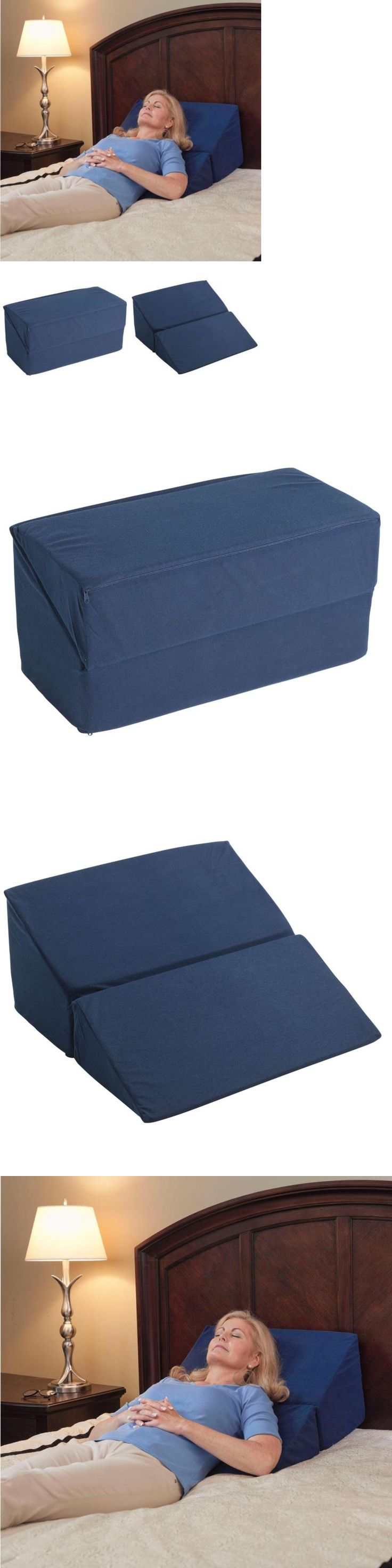 Wedges and Bed Positioners: Large Folding Bed Wedge Pillow For Acid Reflux Medical Elevate Support The Neck -> BUY IT NOW ONLY: $47.54 on eBay!