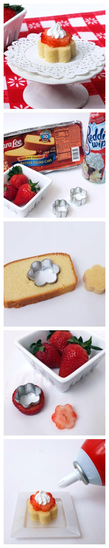 Mini bites of strawberry shortcake to celebrate Spring.