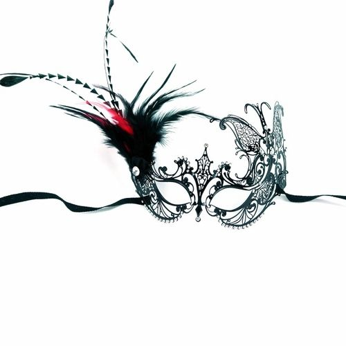 These black metal venetian half masks are the newest in PartySuppliesDelivered line of great black metal masks.  No masquerade ball is complete without some beautiful masquerade masks to go with it. Whether you are dressing up for your school prom or homecoming or just having a great made grass or carnival party to celebrate, you can't go wrong with our great selection of venetian masks, masquerade half masks, deluxe metal half masks or any of our full face masquerade masks. $25.64