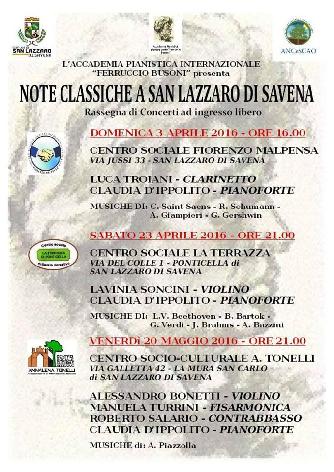 Note Classiche a San Lazzaro di Savena