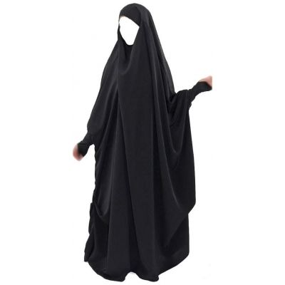 Overhead 1-Piece Khimar with Lycra Over- Sleeves
