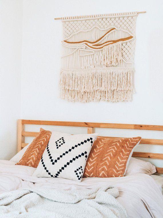 Gold Mudcloth Throw Pillow Mustard Mudcloth African Etsy Mud Cloth Pillows Mudcloth Pillow