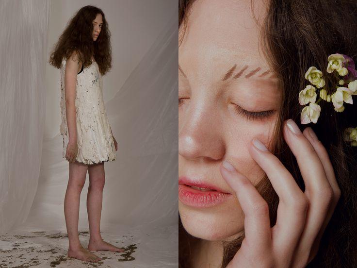 c o n c r e t e --- editorial made by Edith De Michele for Moodboard Magazine // Model Marysia, Make Up Yihang Zhang.