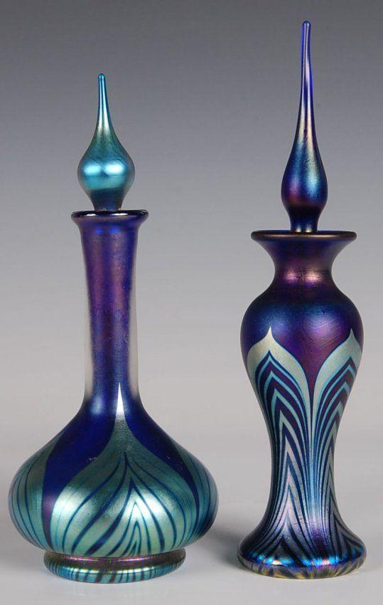 LUNDBERG & CORREIA PULLED FEATHER ART GLASS