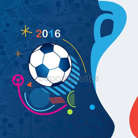 Download - European Championship Soccer 2016 Abstract background. Vector Illustration. Sport, Football Championship soccer, Soccer ball. Sport symbols, Football elements. — Stock Illustration #113567072