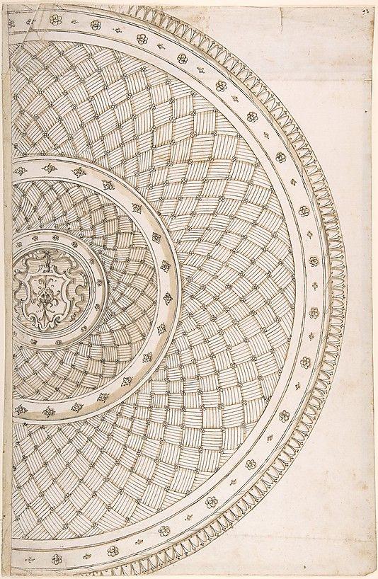 Design for a platter Erasmus Hornick (Netherlandish, Antwerp ca. 1520–1583 Prague)