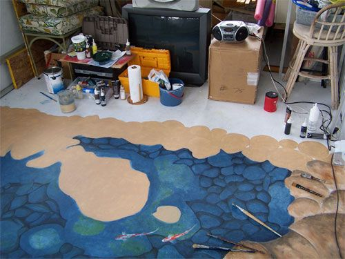 Floor Mural Update!..=) - WetCanvas