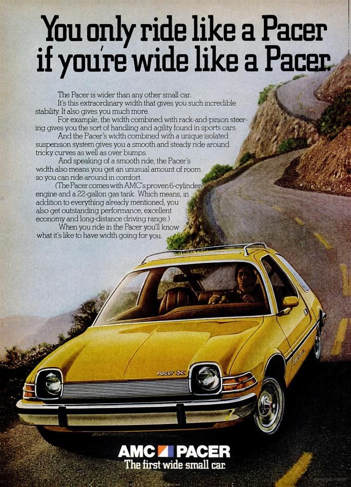 1975 AMC Pacer car ad | Car Ads | Pinterest | Cars, Classic Cars and Vintage Cars