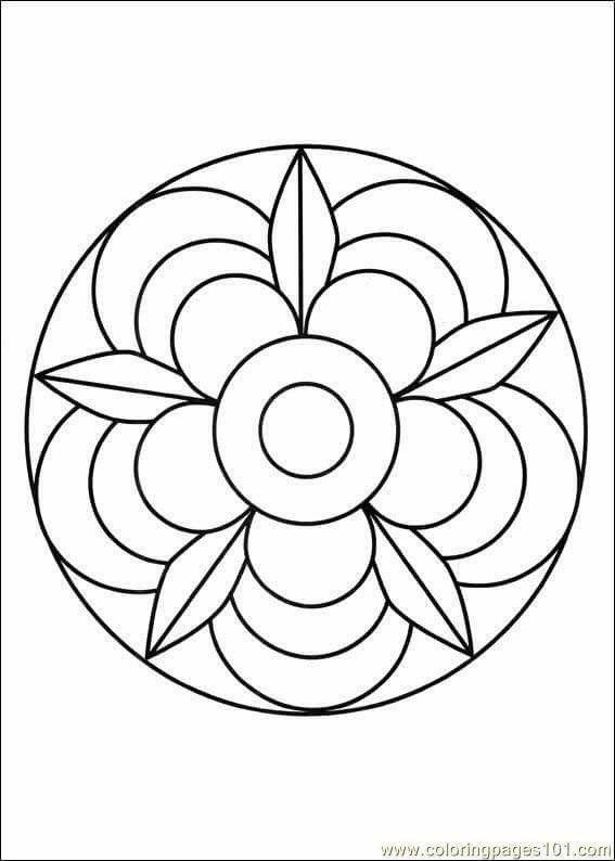 Орнамент в круге картинки для детей карандашом