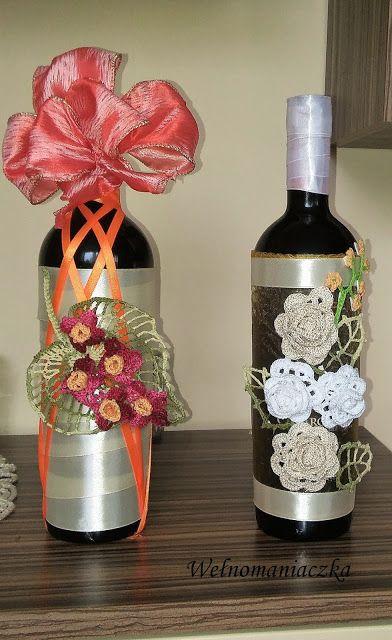 Wełnomaniaczka: Weselne wino na prezent