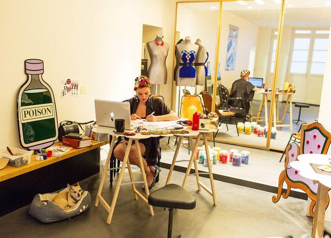 designer Yaz Bukey's studio interior design