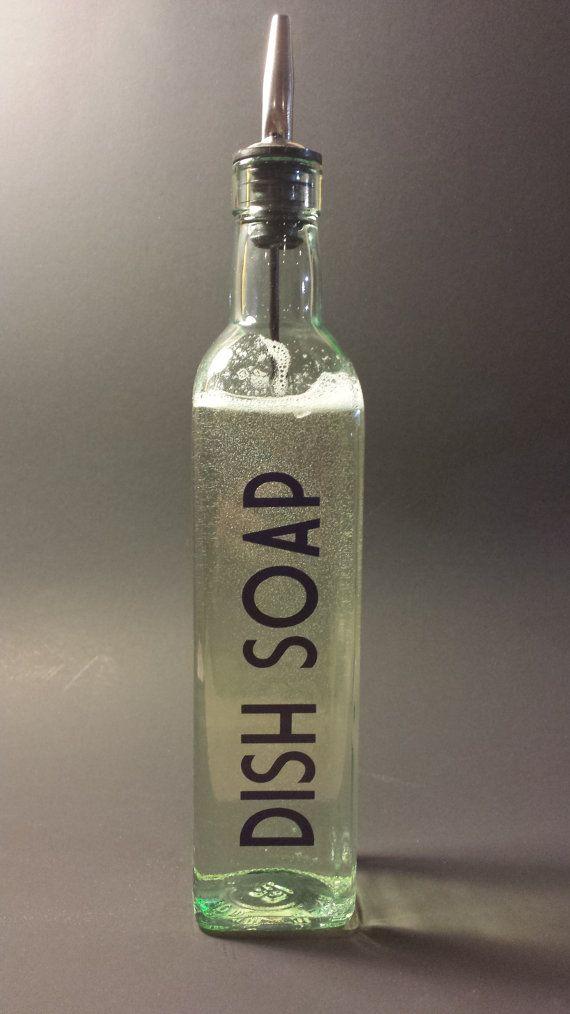 Dishwashing Liquid Dispenser ~ Liquid dish soap dispenser w vinyl decal dishwashing
