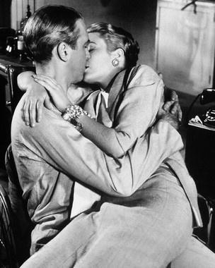 Grace Kelly and James Stewart in ' Rear Window' (1954)