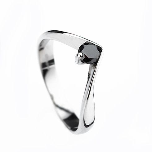 Inel cu diamant negru DR1709