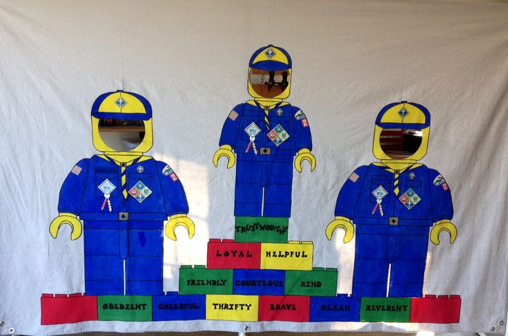 Cub Scout Blue and Gold Banquet Picture Booth with Lego Men. Lego Man, Scout Lego Man