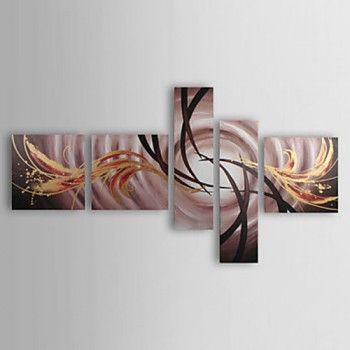 [€ 110.58] Peinture à l'huile réalisée à la main de paysage sur canevas tendu - Set de 5