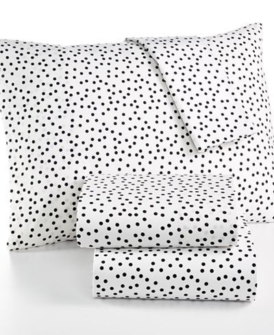 CLOSEOUT! Whim by Martha Stewart Collection Novelty Print Cotton Percale Twin XL Sheet Set, Only at Macy's - College Dorm Bedding - SLP - Macy's