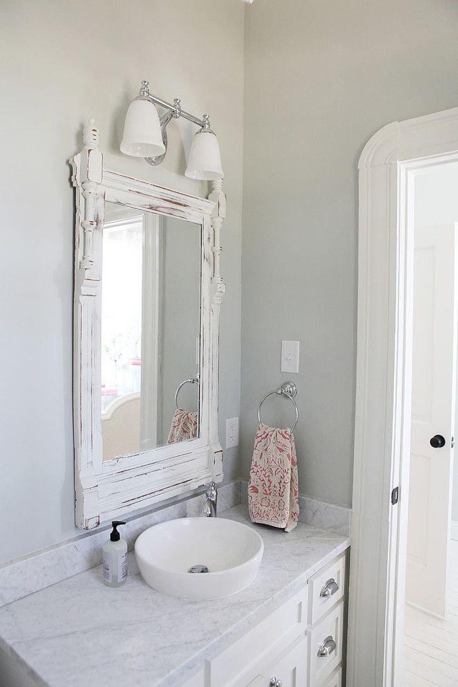 Farmhouse by magnolia homes bath cottage farmhouse for Colorful bathroom mirrors