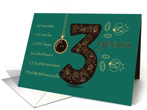 Congratulations on 3rd Cancer Free Anniversary. Time counting card