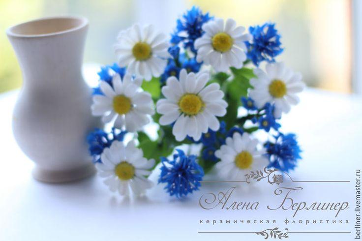 Купить Полевые цветы - разноцветный, ромашки, незабудки, васильки, полевые цветы, букет цветов