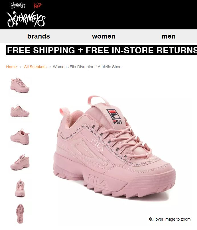 83207bb3186f Womens Fila Disruptor II Athletic Shoe Pink style  452025  6999 ...