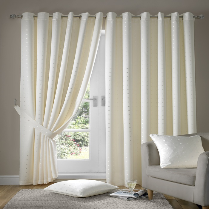 Ring Top Curtains For The Family Room. Love!