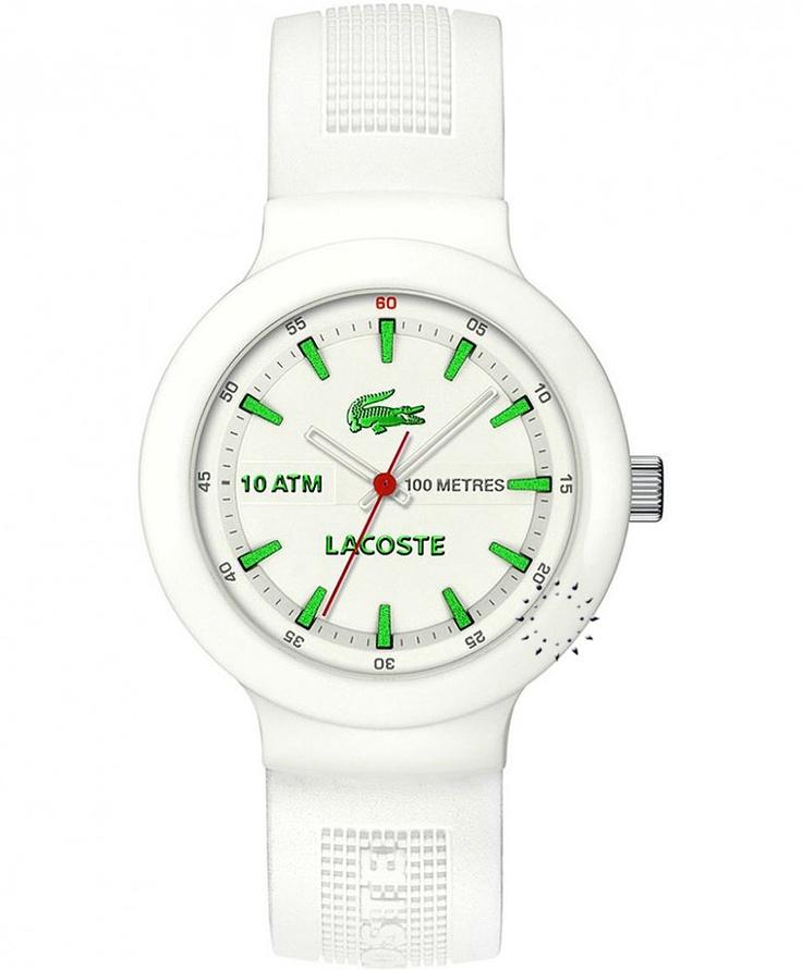 LACOSTE White Rubber Strap Μοντέλο: 2010661 Η τιμή μας: 102€ http://www.oroloi.gr/product_info.php?products_id=28435