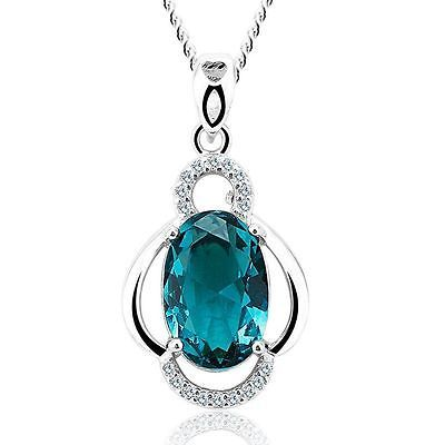 SWAROVSKI ELEMENTS PENDANT NECKLACE with free silk pouch