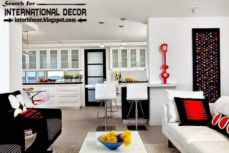 black and white color combinations and color schemes in the interior 2015