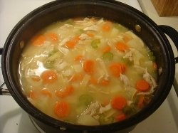 Here is a simple chicken soup recipe that you can make for your sick friends quickly. If you are a busy parent on the go and you need a quick and simple way to make chicken noodle here it is. Chicken noodle soup fills the belly and warms the soup. When you are sick or it's cold outside there's nothing better by the fireplace than a good bowl of chicken soup. Try this delicious simple chicken soup recipe.