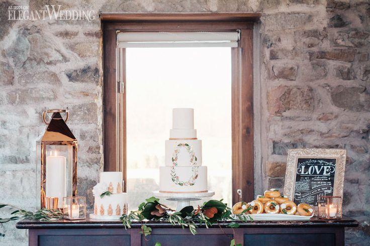 RUSTIC VINEYARD WEDDING WITH COPPER & GREENERY | Elegant Wedding by Sweet Avenue Cakery
