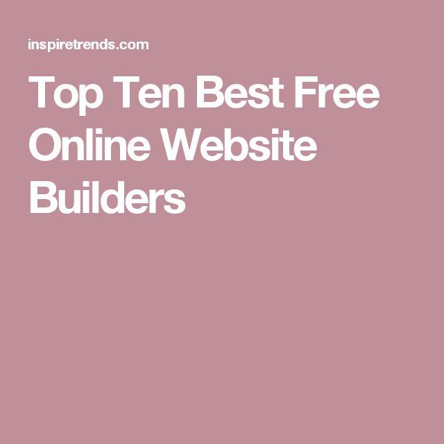 Top Ten Best Free Online Website Builders