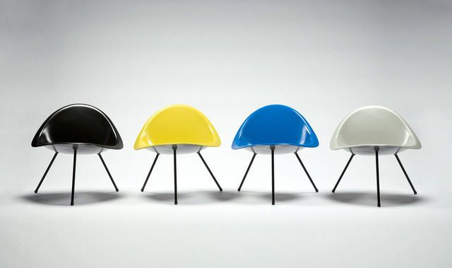Aluminum Tripod Chair (black), 2007 edition produced in Denmark by Sean Kelly Gallery and R 20th Century