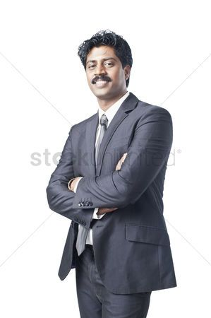South Indian Businessman Standing With His Arms Crossed Stock Photo Affiliate Businessman Standing South Indi Arms Crossed Business Man Stock Photos