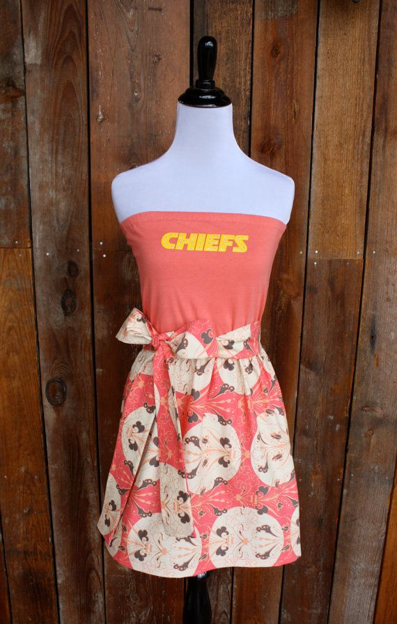 Kansas City Chiefs Game Day Strapless Dress - Size Extra Small / Small on Etsy, $50.00. Way cute