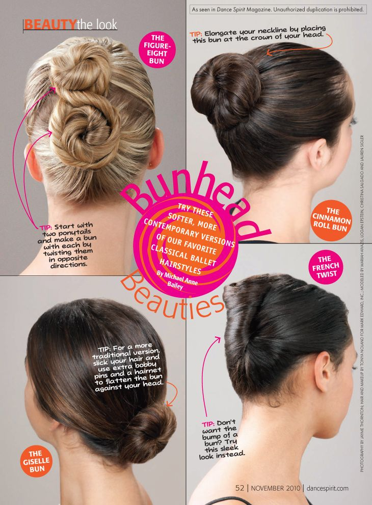 As #dancers, we sometimes need to throw our hair up so we can rock our moves in the studio. Check out these #bunhead styles from @Dance Spirit.