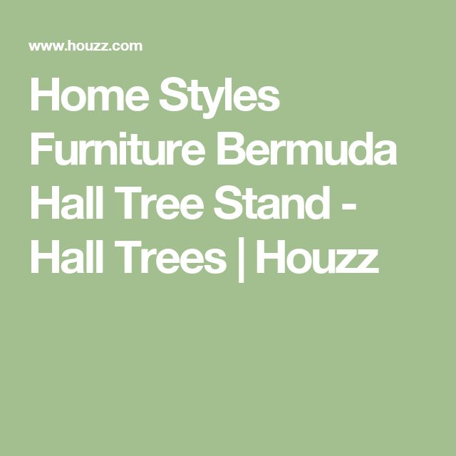 Home Styles Furniture Bermuda Hall Tree Stand - Hall Trees | Houzz