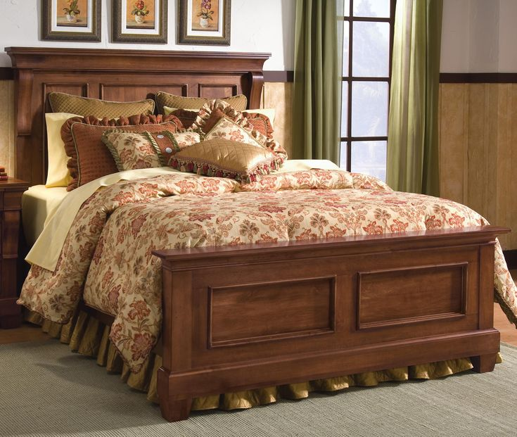 Tuscan Style Tuscano Queen Panel Bed By Kincaid Furniture