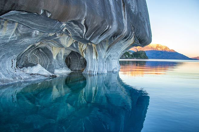 The Blue Marble Caves of Chile's General Carrera Lake