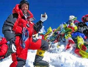 In May 2011, Nepalese mountaineer Apa Sherpa broke his own record for most climbs of Mount Everest by scaling the world's tallest peak for the 21st time.
