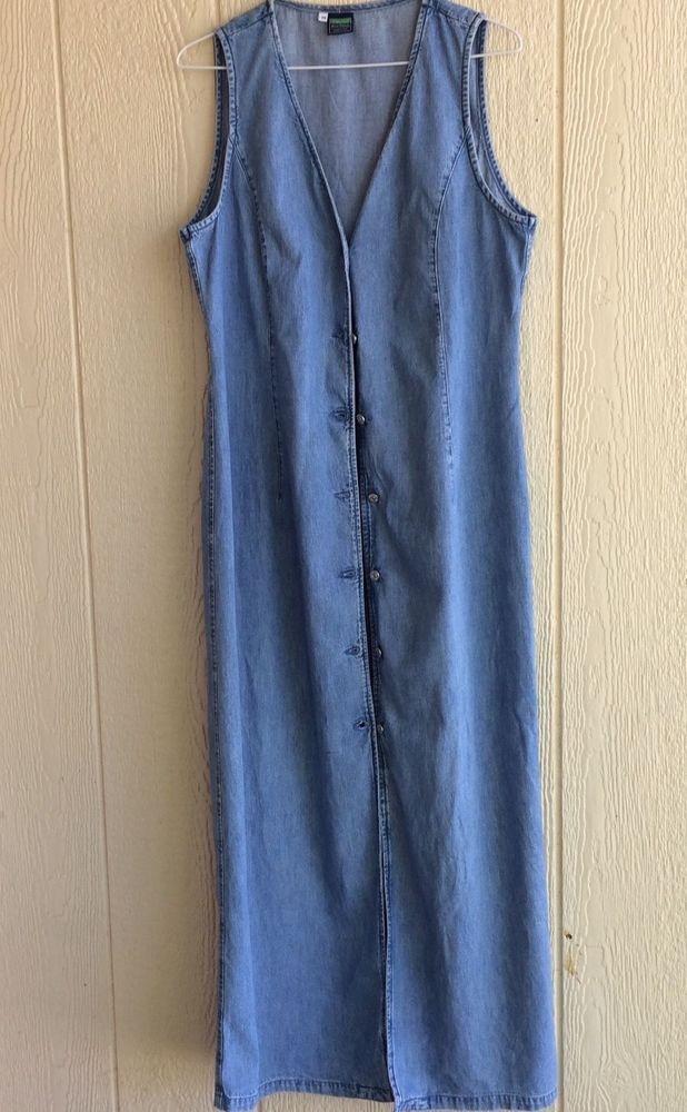 United Colors of Benneton  blue denim sheath dress size M  #BennettonBlueFamily #sheathdress #Casual