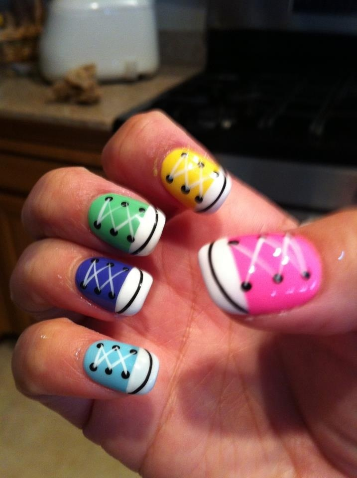 Converse nails by @vanam82 @Cherry Ocampo