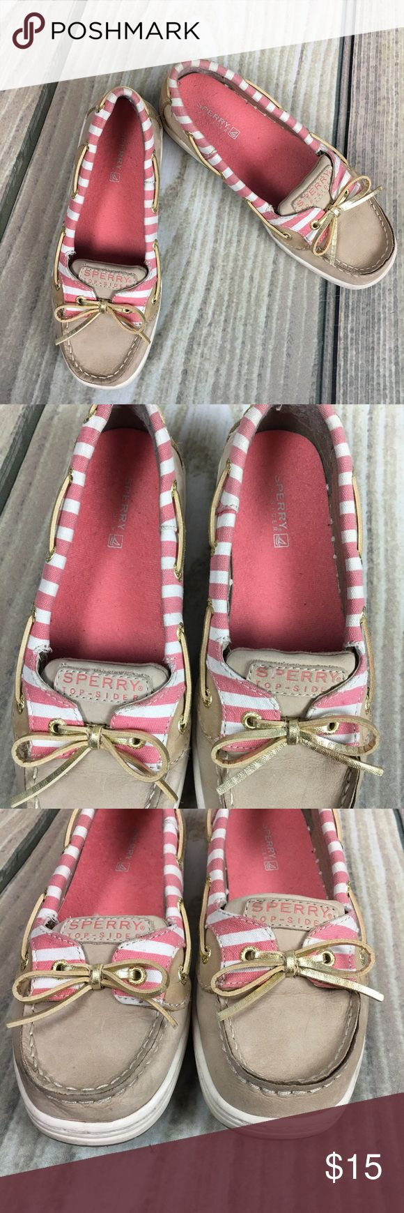 Sperry Kids Angelfish Boat shoes size 3M The cutest little sperry's for girls size 3. In good condition see pictures for wear. Sperry Top-Sider Shoes
