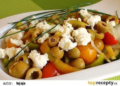 Zeleninový salát s bryndzou recept - TopRecepty.cz